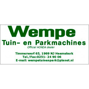 Wempe tuin- & parkmachines